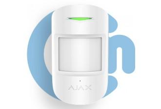 AJAX CombiProtect White (Комбинированный датчик движения и разбития стекла с иммунитетом к животным, белый)