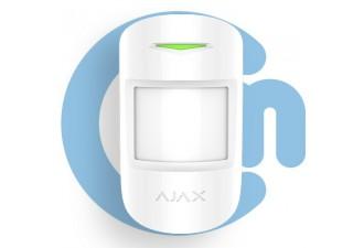 AJAX MotionProtect Plus White (Датчик движения с микроволновым сенсором с иммунитетом к животным, белый)