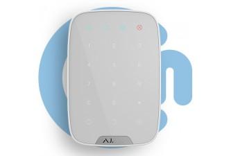 AJAX KeyPad White (Беспроводная сенсорная клавиатура, белая)