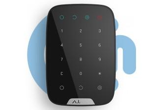 AJAX KeyPad Black (Беспроводная сенсорная клавиатура, чёрная)