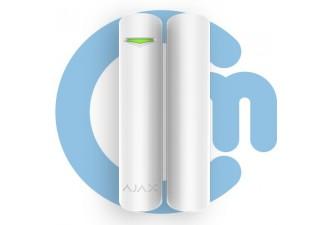 Ajax DoorProtect Plus White (Магнитный датчик открытия с сенсором удара и наклона, белый)