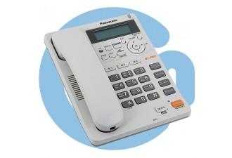 Телефон проводной Panasonic KX-TS2570RUB (с БП)