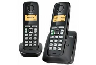 Радиотелефон Gigaset A220 Duo черный