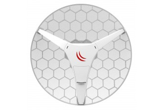Точка доступа MikroTik LHG 60G (60GHz antenna, 802.11ad wireless, four core 716MHz CPU, 256MB RAM, 1x Gigabit LAN, RouterOS L3, POE, PSU) for use as CPE in Point -to-Multipoint setups for connections up to 800m