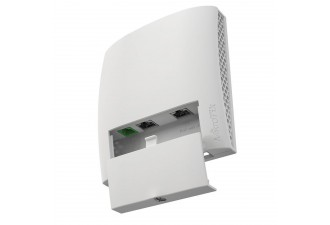 Точка доступа MikroTik wsAP ac lite with 650MHz CPU, 64MB RAM, 3xLAN, built-in 2.4Ghz 802.11b/g/n two chain wireless with integrated antennas, built-in 5Ghz 802.11ac single  chain wireless with integrated antenna, USB, plastic case