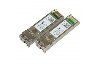 Комлект модулей MikroTik Pair of bidirectional SFP 10G 10km modules (10G T1270nm/R1330nm, Single LC-connector + 10G T1330nm/R1270nm, Single LC-connector)