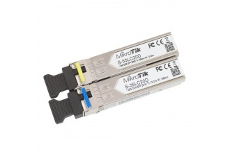 Модуль MikroTik Pair of SFP modules, S-35LC20D (1.25G SM 20km T1310nm/R1550nm, Single LC-connector) + S-53LC20D (1.25G SM 20km T1550nm/R1310nm, Single LC-connector)
