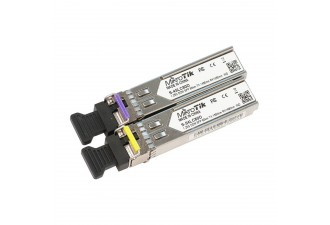 Модуль MikroTik Pair of SFP modules, S-45LC80D (1.25G SM 80km T1490nm/R1550nm, Single LC-connector) + S-54LC80D (1.25G SM 80km T1550nm/R1490nm, Single LC-connector)