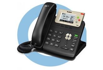SIP-T23G SIP-телефон, 3 линии, PoE, GigE
