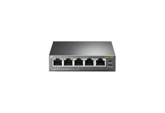 5-портовый 10/100 Мбит/с настольный коммутатор с 4 портами PoE TL-SF1005P