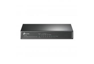 8-портовый 10/100 Мбит/с настольный коммутатор с 4 портами PoE TL-SF1008P