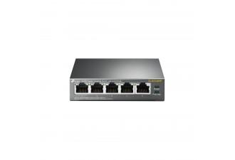 5-портовый гигабитный настольный коммутатор с 4 портами PoE TL-SG1005P
